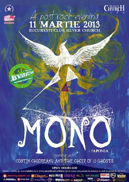11 martie 2013 - Live Concert MONO în cadrul B'ESTFEST Summer Camp pre-party @ The Silver Church Club