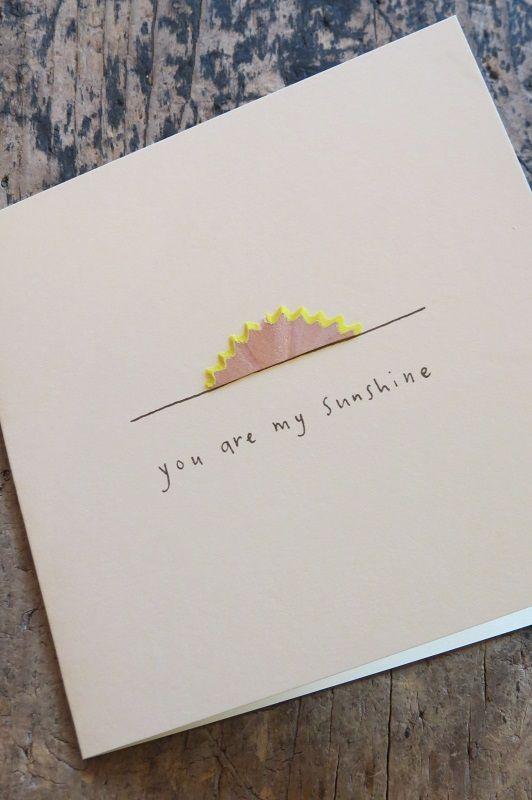 Du bist mein Sonnenschein! Bleistiftspäne #Geburtstag #Karte #Papier #Schreibwa …