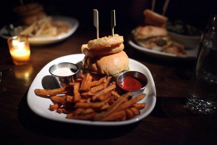 Double Bacon Mangalitsa Pork Burger Burger & Barrel, New York, NY