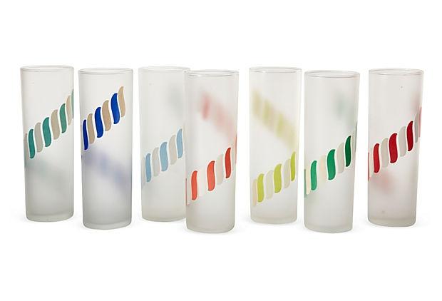 Multicolor Tumblers, Set of 7 on OneKingsLane.com