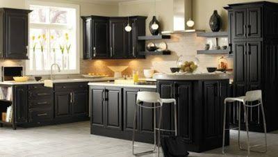 Gabinetes de Cocina Negros - Muy Elegantes