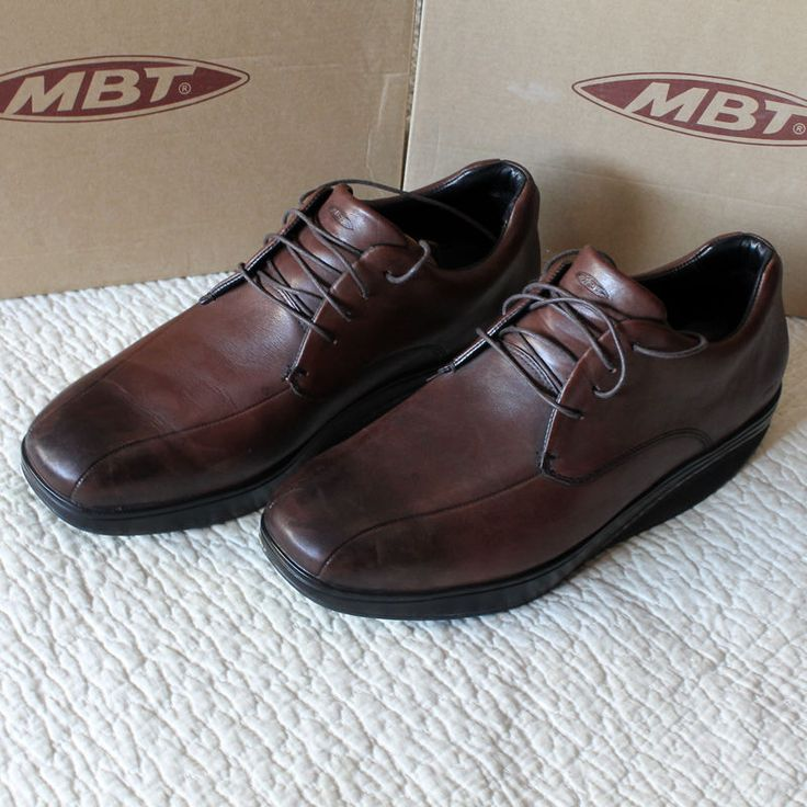 Zapatos MBT piel marrón Bosi chestnut leather brown shoes talla size 43 9