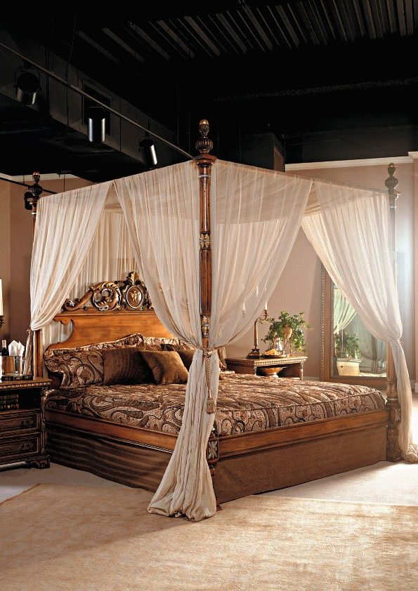 276 best images about gorgeous bedrooms on pinterest - How to decorate a canopy bed ...