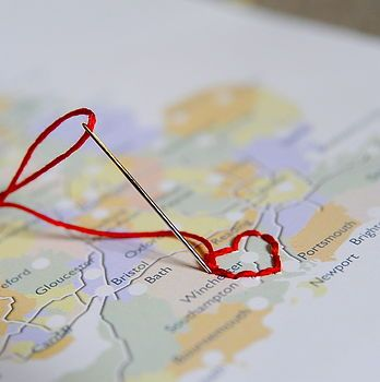 Personalised maps. Stitch where you have been.