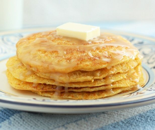 Cornbread Pancakes with Honey Butter Syrup | Recipe | Griddles ...