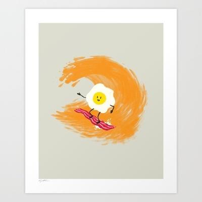 A Balanced Breakfast Art Print by Brock Davis -Mo'N Davis, Brock Davis, Breakfast Art, Art Prints, Balance Breakfast