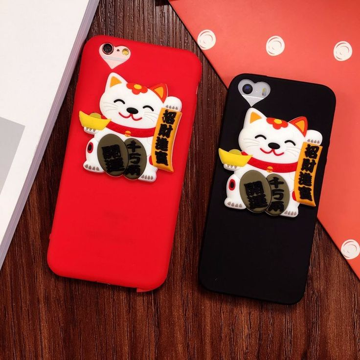 Cheap phone cases, Buy Quality for iphone directly from China cover for Suppliers: For iPhone 7 Case Kawaii Lucky Cat Silicon Full Cover for iphone7 plus 6 6s plus 6plus 5 5s  Phone Cases