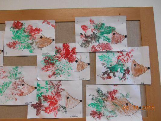 Výtvarné práce dětí PODZIM