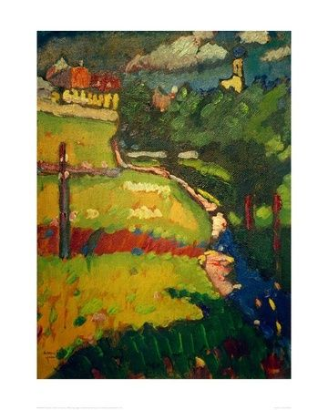 Wassily Kandinsky, Study For Church In Murnau on ArtStack #wassily-kandinsky-vasilii-vasil-ievich-kandinskii #art