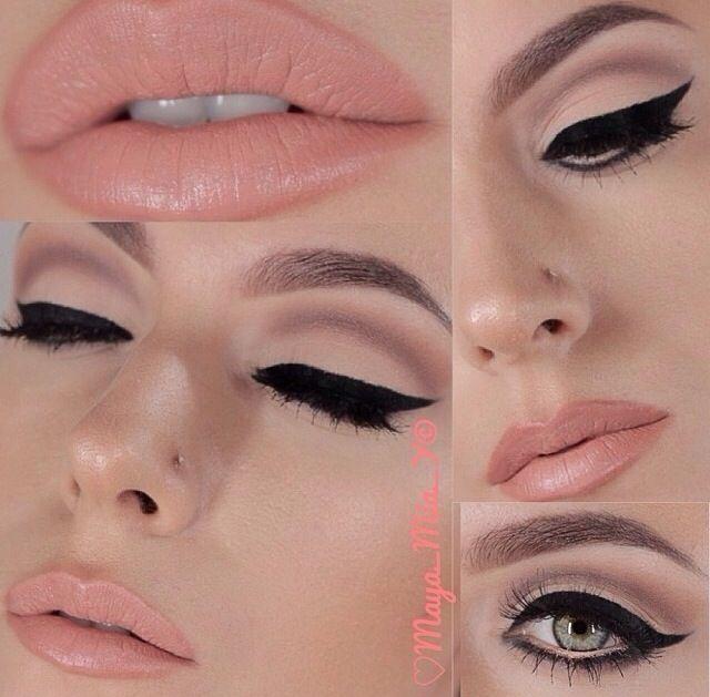 Maquillage yeux verts en style vintage et élégant