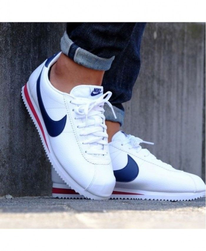 save off 9f35e fac33 Nike Cortez Navy Blue Trainer Clearance