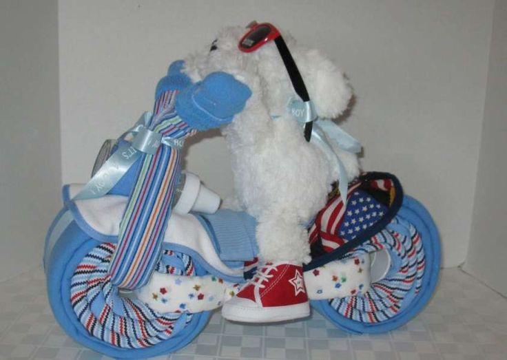 Torta di pannolini - Motocicletta per bambini