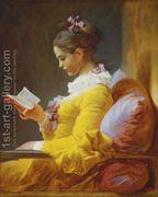 A Young Girl Reading c. 1776  by Jean-Honore Fragonard