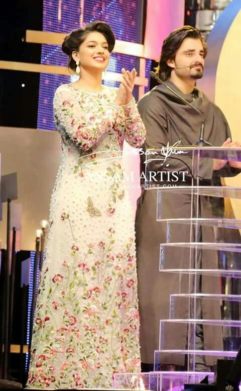 The dress of sanam jung..... Its cool...