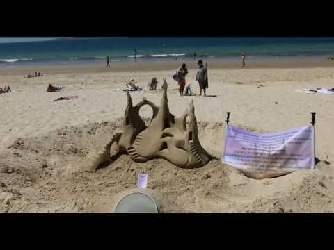 Noosa Beach, Noosa on the Sunshine Coast in Queensland Australia in 4K