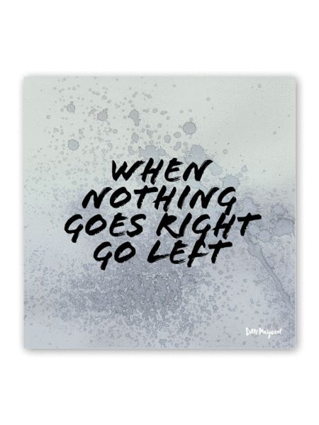"""""""When nothing goes right"""" Limited Edition Poster - GreenBlue   Ditte Maigaard Studio"""
