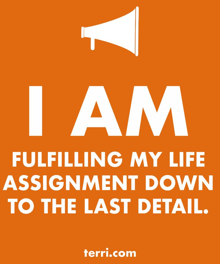 I AM FULFILLING MY LIFE ASSIGNMENT! Your words are powerful and the words you speak about yourself are even more powerful. Discover what to say from God's Word about your freedom, faith, finances, family, fitness, and your future dreams and goals. Program your mind for success through positive declarations and affirmations to become happier, healthier, and more productive today! Click on the Pin to order my book Pep Talk & find out more about affirmations.