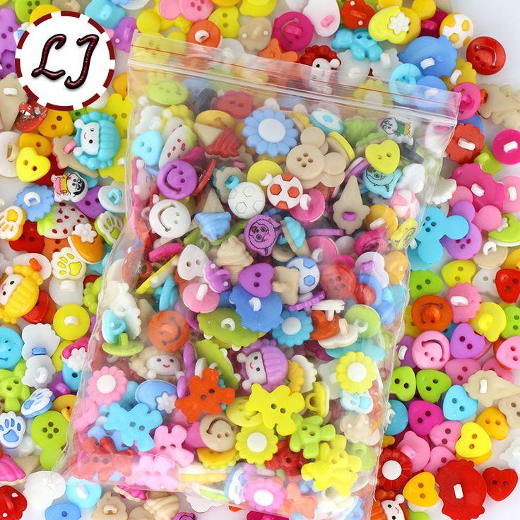 300 pçs/lote 50-60 Padrão misto crianças botão de plástico para os botões de costura roupas acessórios artesanato botão dos desenhos animados da criança