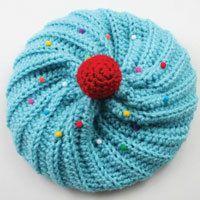 Crochet Cupcake Hat - Free Pattern