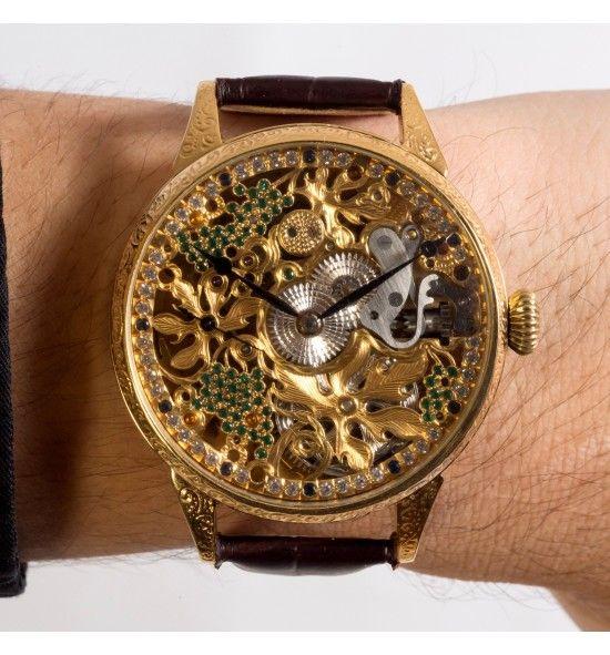 Omega Grapes Skeleton Watch