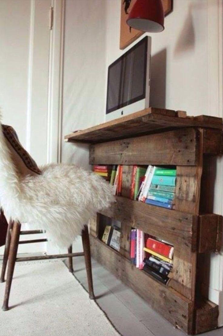 Pallet ideas/book case/desk