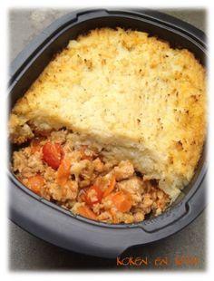 Koken en Kitch: Ovenschotel met gehakt en bloemkoolpuree