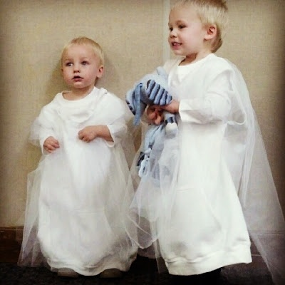 DIY ghost costume - safer version for toddlers