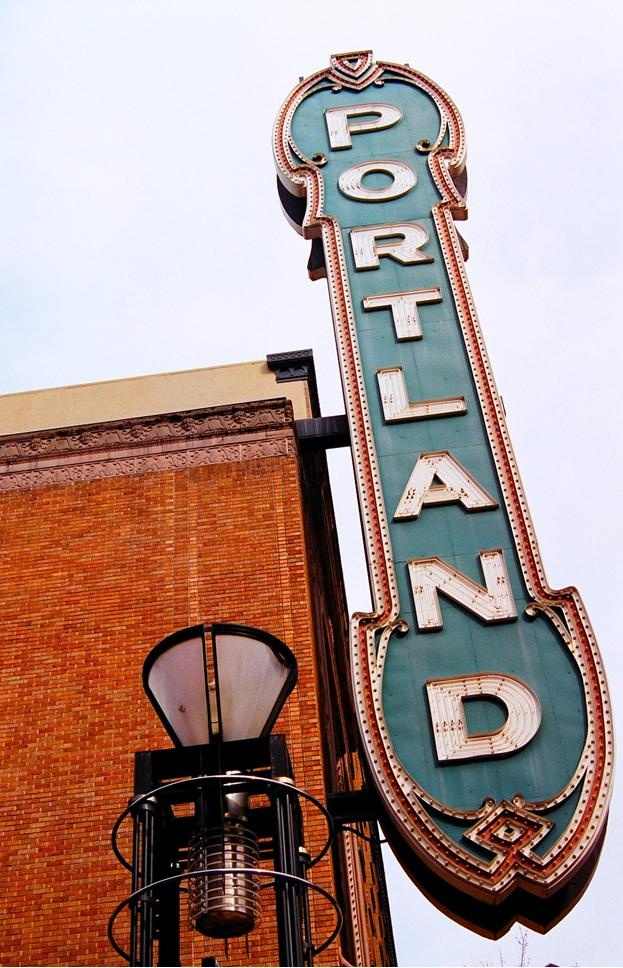 """The giant Portland sign.    [ Key Home Furnishings – #Portland's Same-Day Delivery #Furniture Store – Lake Oswego, OR (503) 598-9948 www.KeyHomeFurnishings.com – """"Shop quality brands at great prices!"""" ]"""