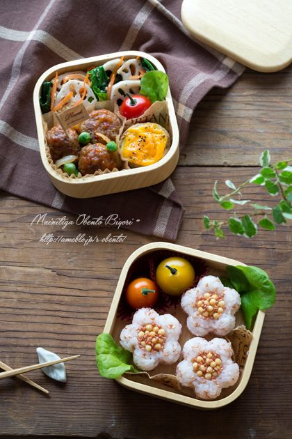 """Flower rice ball lunch 
