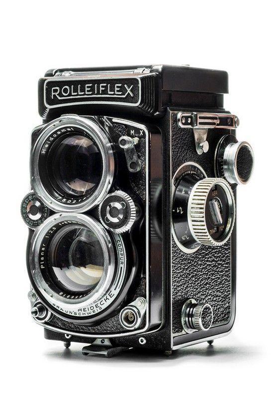 Rolleiflex 2.8D TLR (Twin Lens Reflex) Classic medium format analogue vintage camera.