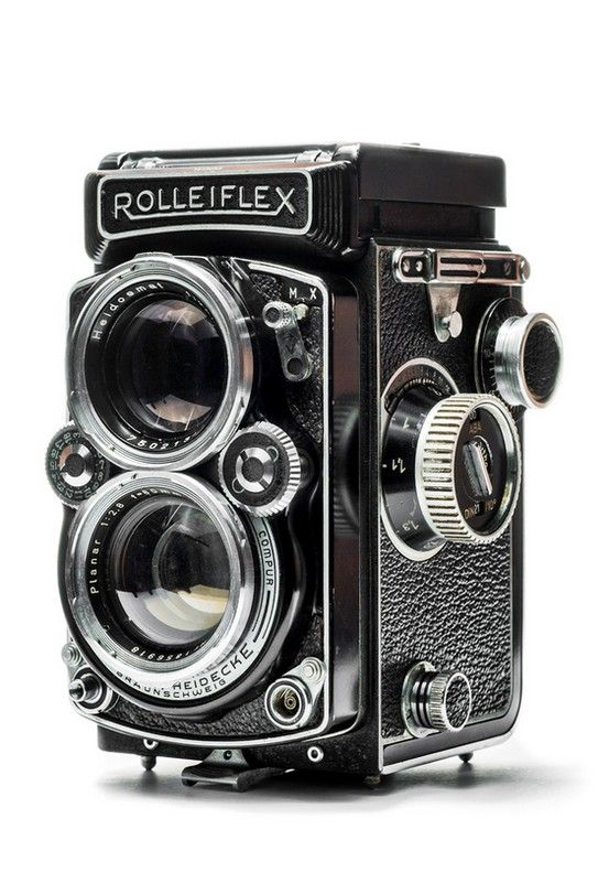 Rolleiflex 2.8D TLR (Twin Lens Reflex) Classic medium format analogue vintage camera.