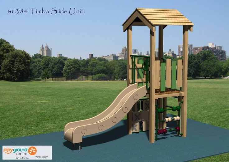 A real fun-filled action-packed module with a unique timber finish, a complement to any heritage landscape.  #SC384TimbaSlideUnit #PlaygroundCentre #ModularPlaySystems #PlaySpace #PlayGround #Fun #Play