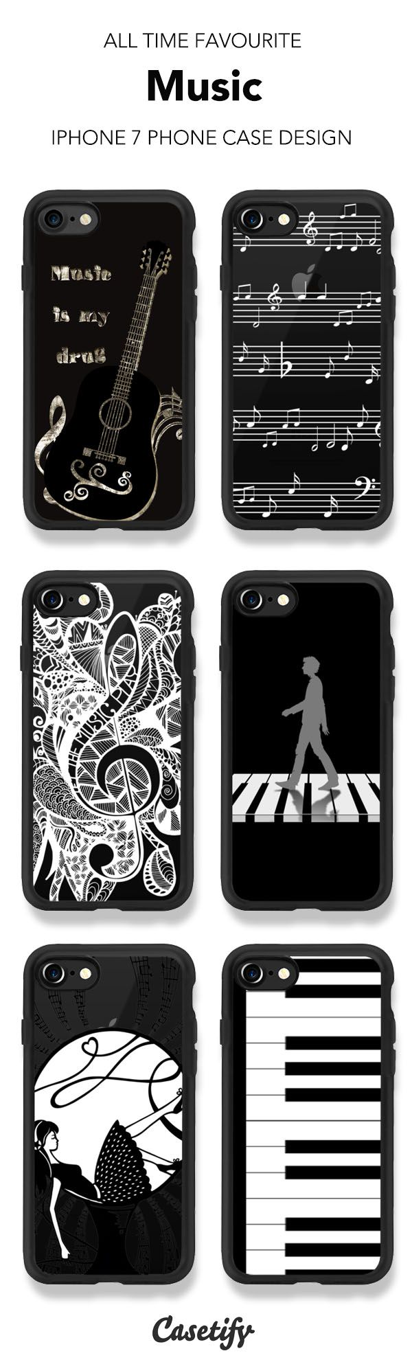 All Time Favourite Music iPhone 7 and iPhone 7 Plus case. Shop these phone cases here >   https://www.casetify.com/artworks/7iGLAG0IDc