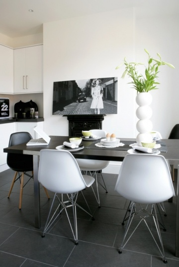 vitra eames plastic side chair dsr love the floor dining pinterest esszimmer. Black Bedroom Furniture Sets. Home Design Ideas