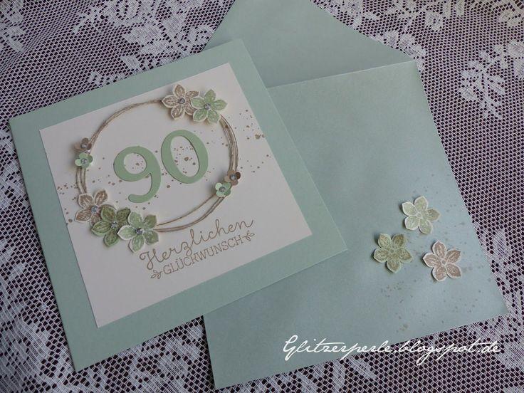 Die besten 25 90 geburtstag ideen auf pinterest 90 geburtstag karten einladungen zum 90 - Ideen zum 90 geburtstag ...
