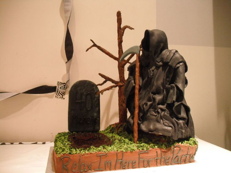 Grim Reaper 40th Birthday Cool Over The Hill Cakes