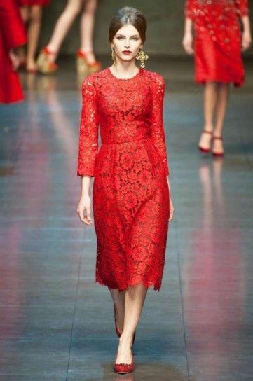 Dolce e Gabbana, abito samba red