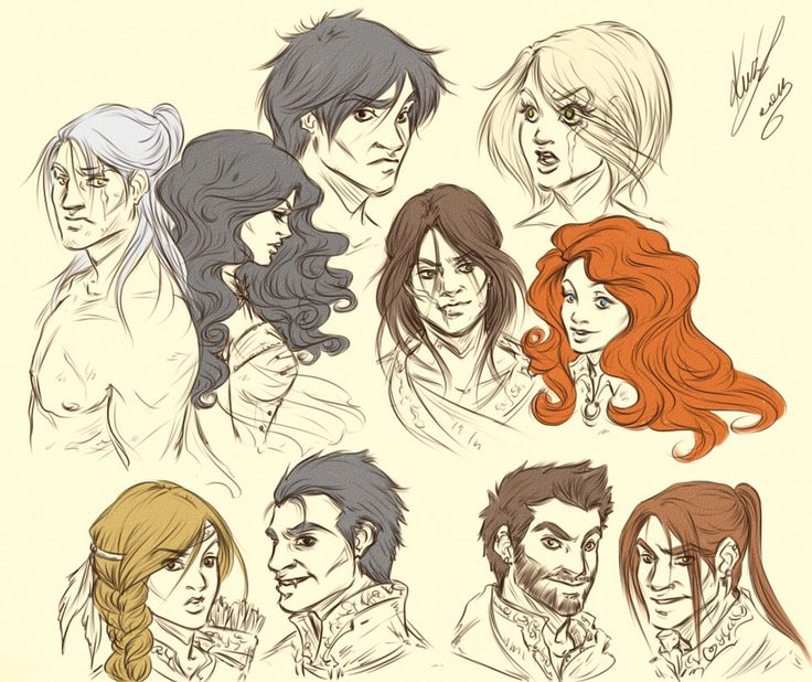 The Witcher characters by sarumanka @ deviantart