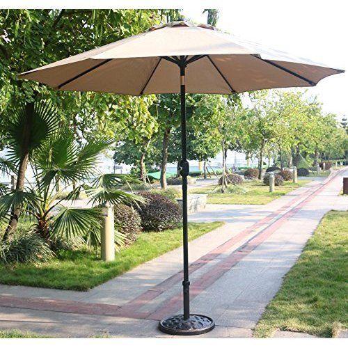 Outdoor 9' Patio Umbrella Aluminum Pole w/ 8 Sturdy Ribs Garden Pool Outdoor NEW #OutdoorPatioUmbrella