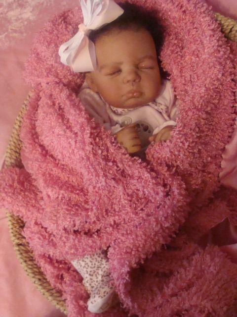 Precious Sleeping Reborn Aa Ethnic Biracial Baby Girl