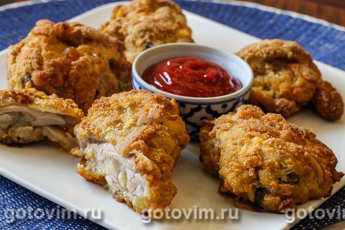 Жареная курочка как в KFC. Фотография рецепта