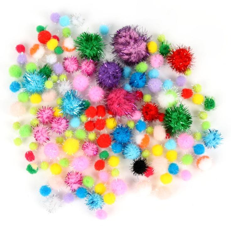 儿童玩具 DIY 手工材料 彩色金葱绒球 金丝毛球 EF00458 0.03-tmall.com天猫