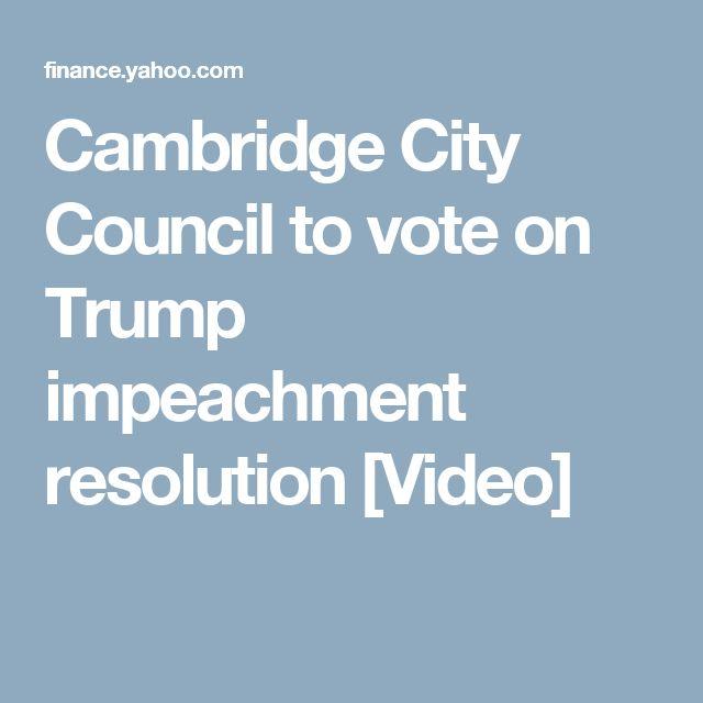 Cambridge City Council to vote on Trump impeachment resolution [Video]