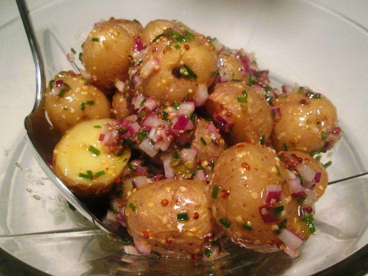 Kartoffelsalat med sennep og kapers