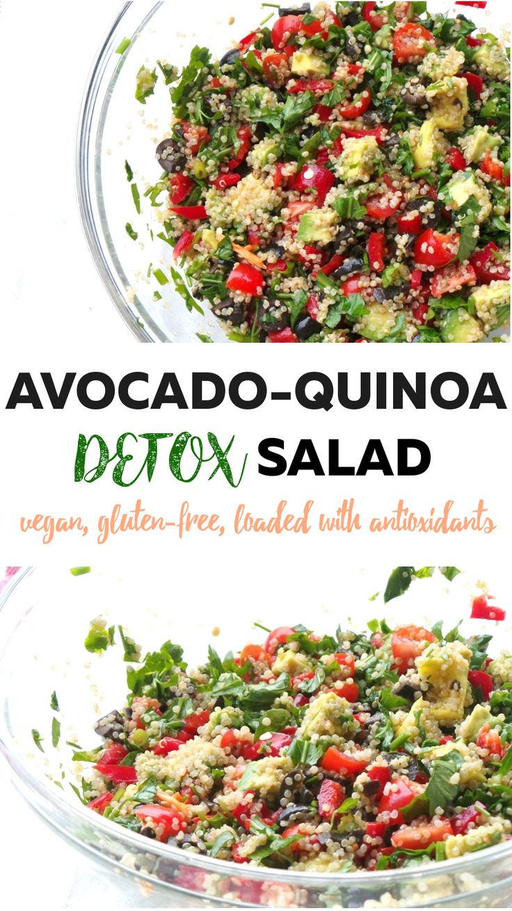 Beauty Bites: healthy, gluten-free, vegan & detox yummy quinoa salad. I would've never guessed that this can be so delicous. Not only that it can also improve your skin heath - get rid of acne and protect from wrinkles, because of the high antioxidant content #cleaneating
