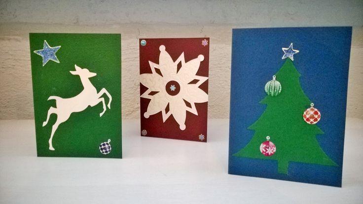 Joulunkortin päivän työpajatuotoksia 2014. #joulukortti #joulu #postimuseo #askartelu