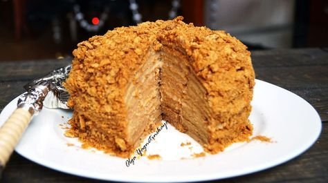 Карамельный диетический торт «МЕДОВИК» с апельсиновым кремом. Без муки и сахара!!! - диетические торты / диетические пирожные - Полезные рецепты - Правильное питание или как правильно похудеть