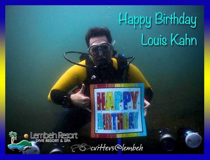 Critters@Lembeh & Lembeh Resort would like to congratulate Louis Kahn, during the #CapturingCrittersinLembeh he is celebrating his birthday underwater.
