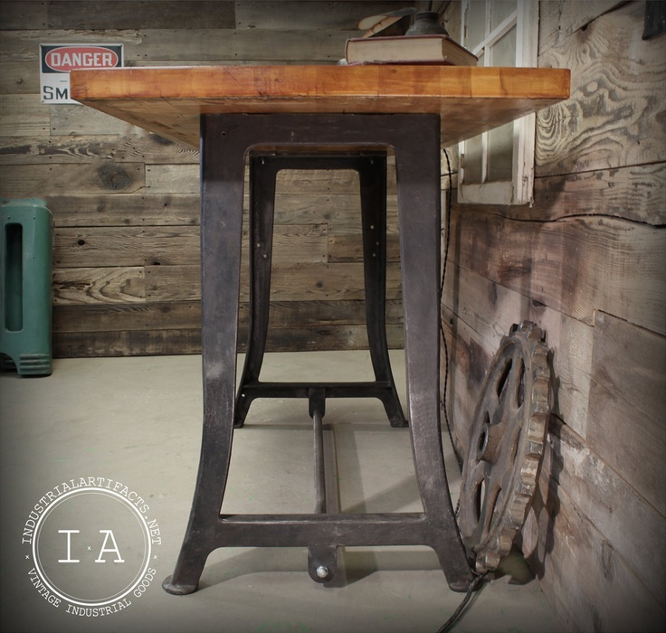 66 Best Antique Work Benches Images On Pinterest: Vintage Industrial Work Bench Table Desk Cast Iron Machine