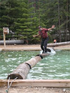 Jack Pine Lumberjack Shows - Mackinaw City, MI...watch two lumberjacks compete in a number of events with humorous commentary...great!
